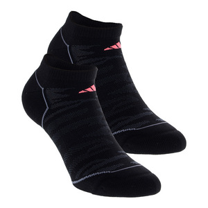 Women`s Superlite Prime No Show Socks 2 Pack Black and Night Gray Size 5-10