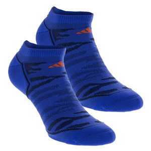 Men`s Superlite Prime Mesh No Show Tennis Socks 2 Pack Blue and Navy Size 6-12