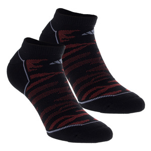 Men`s Superlite Prime Mesh No Show Socks 2 Pack Black and Scarlet Size 6-12