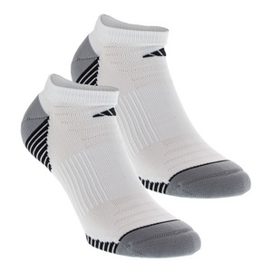 Men`s Superlite Speed Mesh No Show Tennis Sock 2 Pack White and Black Size 6-12