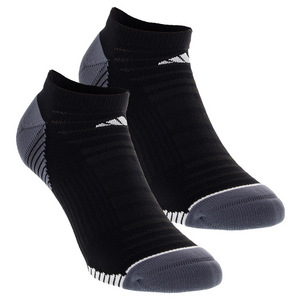 Men`s Superlite Speed Mesh No Show Tennis Sock 2 Pack Black and White Size 6-12