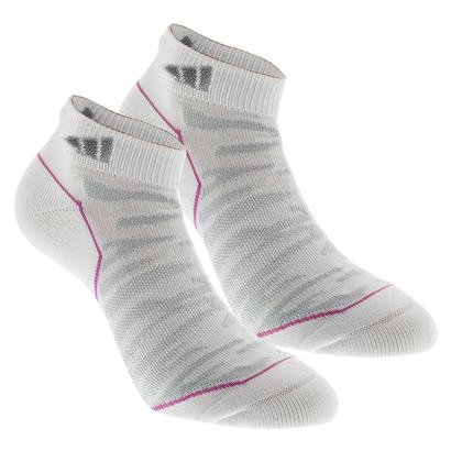 Women`s Superlite Prime Mesh Low Cut Tennis Socks 2 Pack White and Gray Sz 5-10