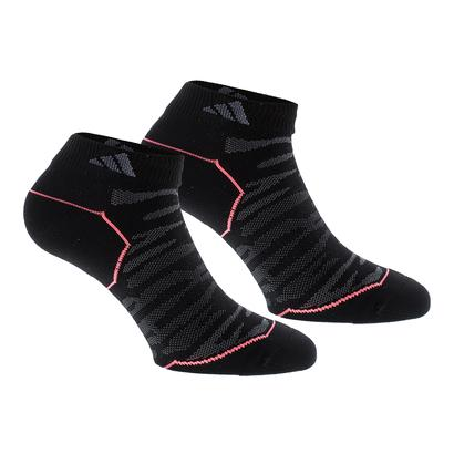 Women`s Superlite Prime Mesh Low Cut Tennis Socks 2 Pack Black and Onix Sz 5-10