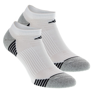 Women`s Superlite Speed Mesh No Show Socks 2 Pack White and Aluminum Size 5-10