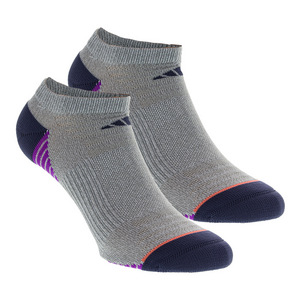 Women`s Superlite Speed Mesh No Show Socks 2 Pack Clear Gray Marl Size 5-10