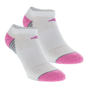 Women`s Superlite Speed Mesh No Show Socks 2 Pack White and Mono Pink Size 5-10