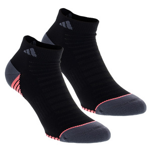 Women`s Superlite Speed Mesh Low Cut Socks 2 Pack Black and Onix Sizes 5-10