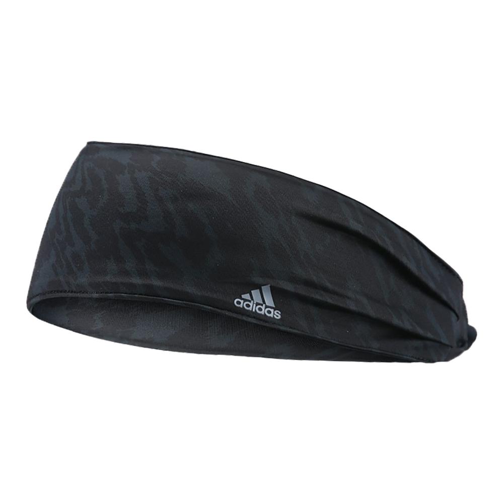 Freestyle Tennis Hairband Black And Gray Ikat Zebra Print