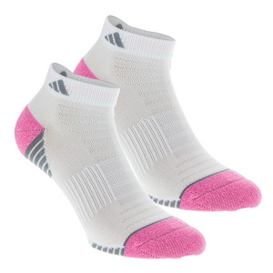 Women`s Superlite Speed Mesh Low Cut Socks 2 Pack White and Mono Pink Sizes 5-10