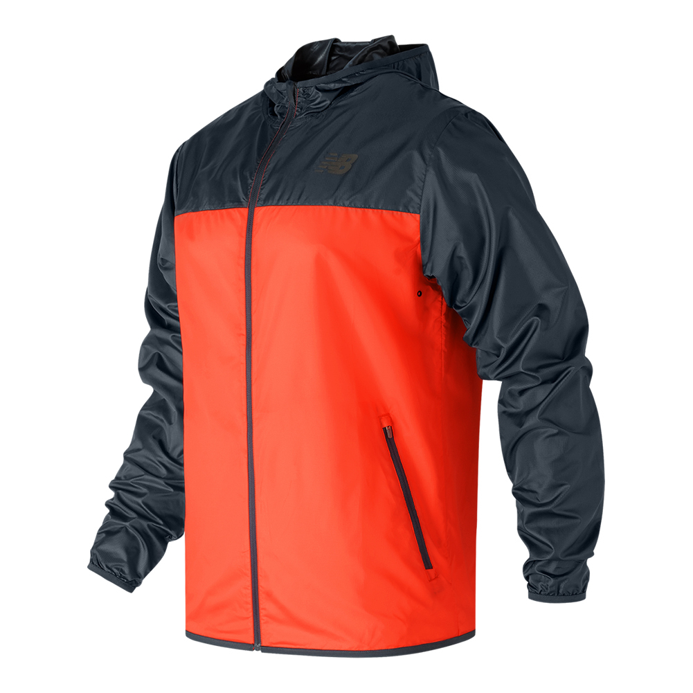 Men's Windcheater Tennis Jacket Alpha Orange