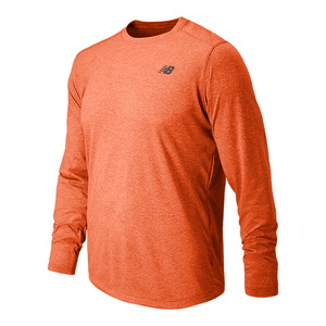 Men`s Long Sleeve Tech Tennis Tee Alpha Orange Heather