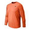 NEW BALANCE Men`s Long Sleeve Tech Tennis Tee Alpha Orange Heather