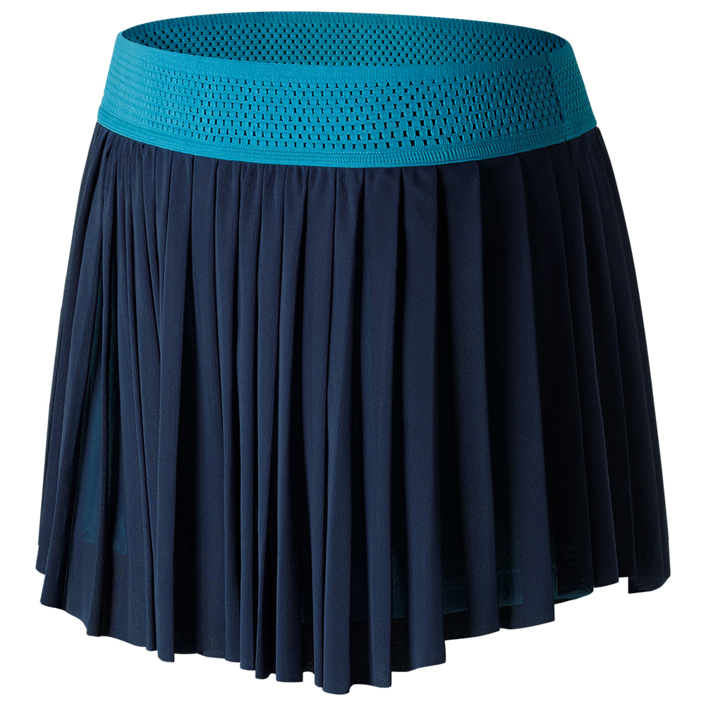 Women's Heath Tennis Skort Pigment And Deep Ozone Blue
