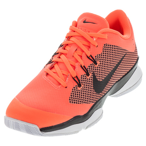 Men`s Air Zoom Ultra Tennis Shoes Hyper Orange and Black