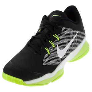 Men`s Air Zoom Ultra Tennis Shoes Black and Volt