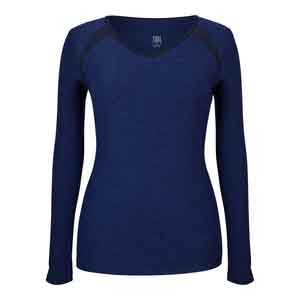 Women`s Ava Long Sleeve Tennis Top Twilight Space Dye