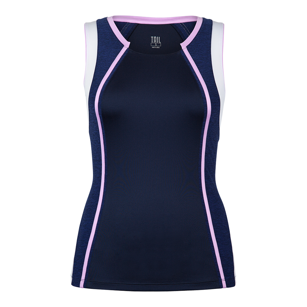 Women's Sienna Tennis Tank Navy Blue