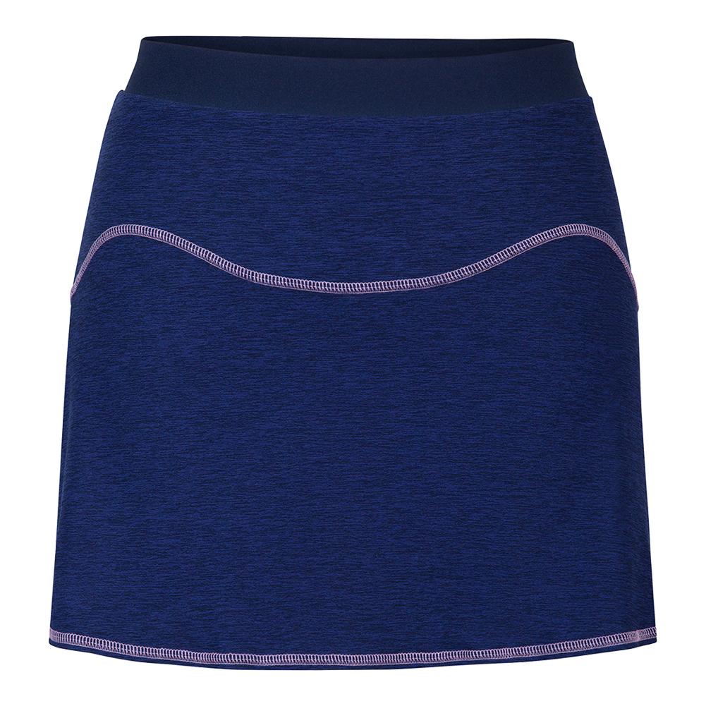 Women's Bristol 14.5 Inch Tennis Skort Twilight Space Dye