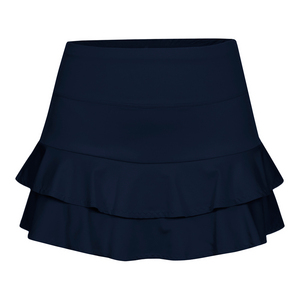 Women`s Doubles 13.5 Inch Tennis Skort Navy Blue