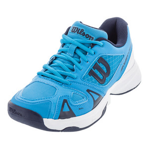 Juniors` Rush Pro 2.5 Tennis Shoes Hawaiian Ocean and White