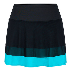 Women`s Shannon 14.5 Inch Tennis Skort Black and Antigua
