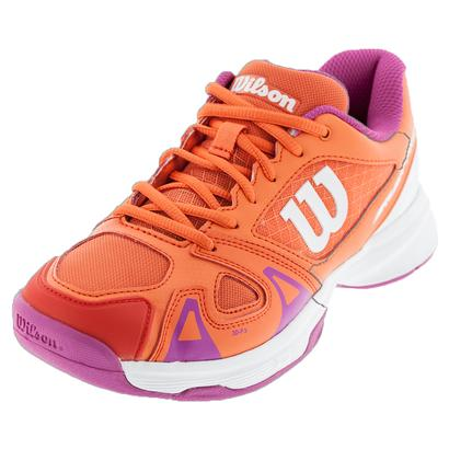 Juniors` Rush Pro 2.5 Tennis Shoes Nasturtium and White
