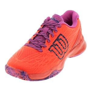 Women`s Kaos Tennis Shoes Fiery Coral and Fiery Red