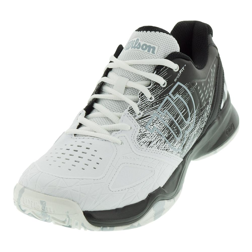 Men's Kaos Comp Tennis Shoes Black And White