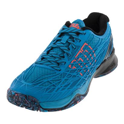 Men`s Kaos Tennis Shoes Hawaiian Ocean and Black