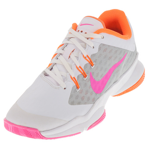 Women`s Air Zoom Ultra Tennis Shoes White and Metallic Silver