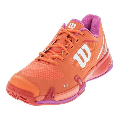 Women`s Rush Pro 2.5 Tennis Shoes Nasturtium and Fiery Red