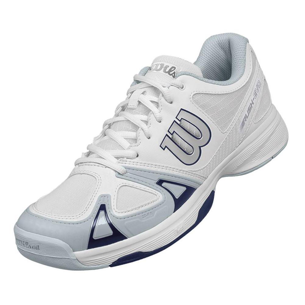 Men's Rush Evo Tennis Shoes White And Pearl Blue