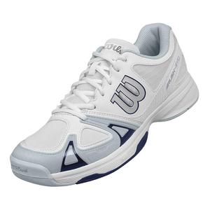Men`s Rush Evo Tennis Shoes White and Pearl Blue