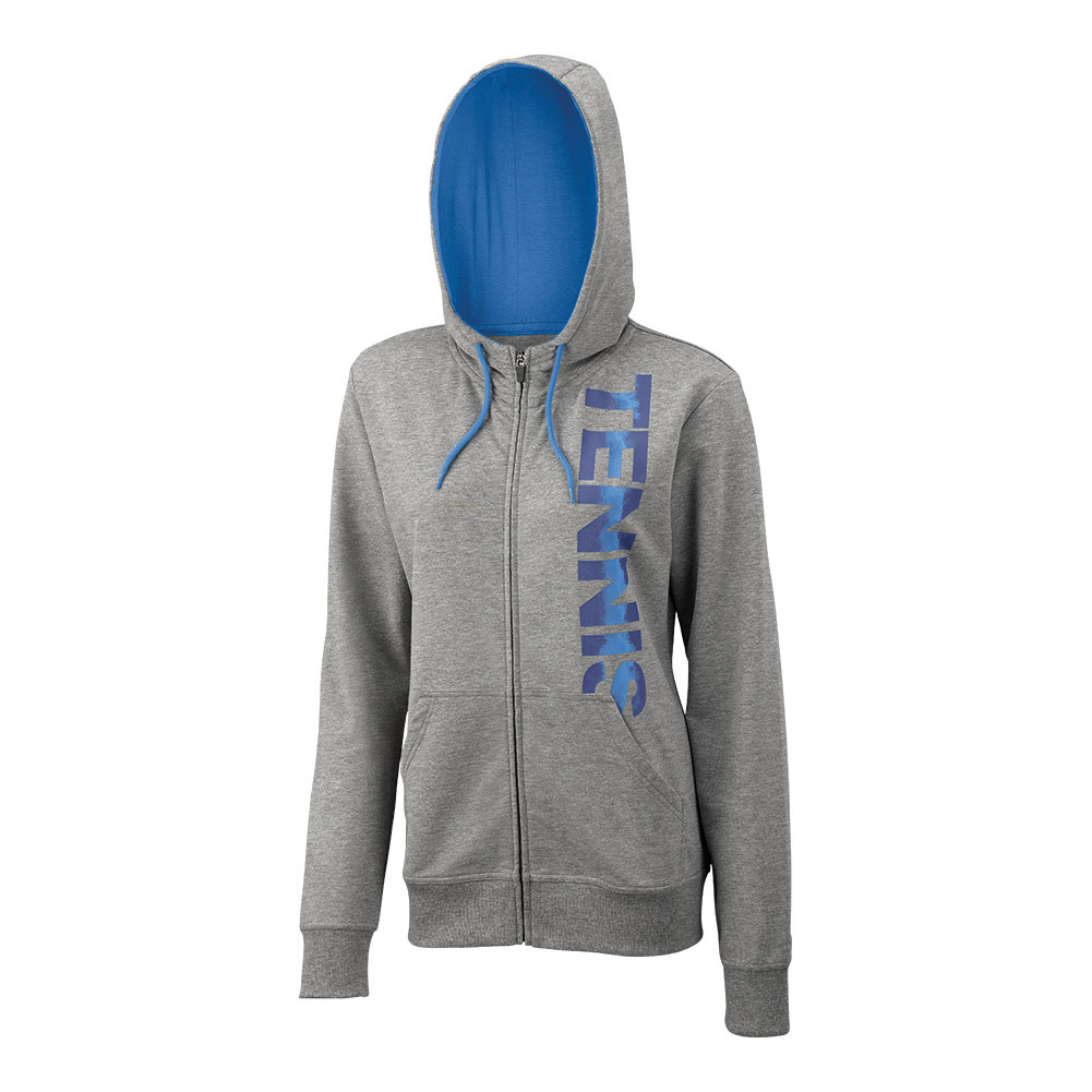 Women's Full Zip Tennis Hoody Gray Heather