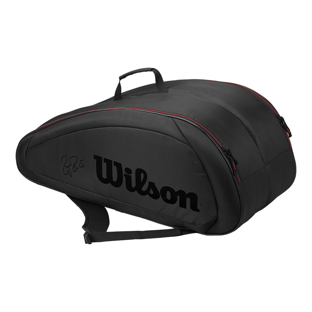 Wilson Fed Team 12 Pack Tennis Bag Black