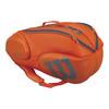 WILSON Burn 9 Pack Tennis Bag Orange and Gray