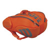 WILSON Burn 15 Pack Tennis Bag Orange and Gray