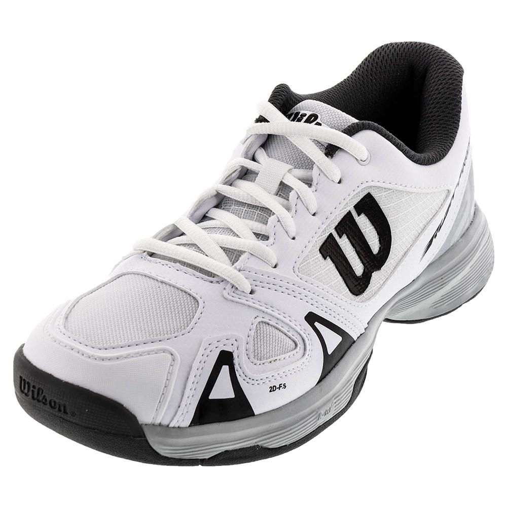 Juniors ` Rush Pro 2.5 Tennis Shoes White And Pearl Blue