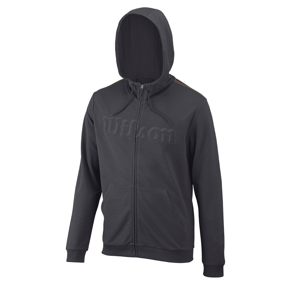 Men's Uw Full Zip Tennis Hoody Ebony