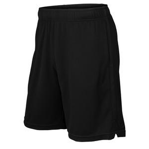 Men`s Knit 9 Inch Tennis Short Black