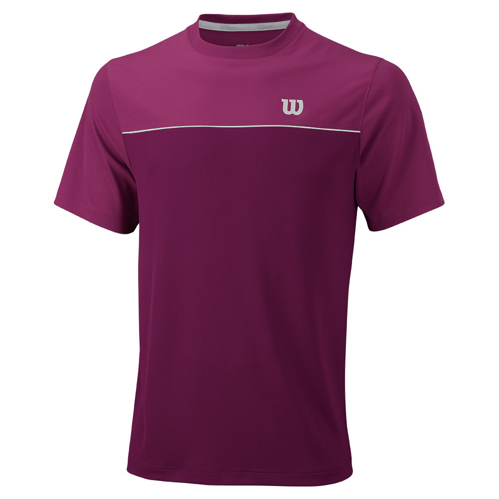 Men's Star Bonded Tennis Crew Purple Potion And Boysenberry