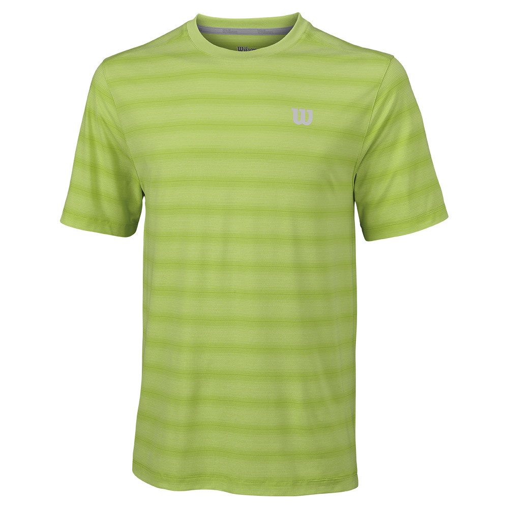 Men's Star Blur Tennis Crew 90 % Green Glow