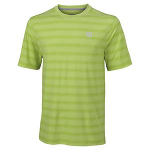 Men`s Star Blur Tennis Crew 90% Green Glow