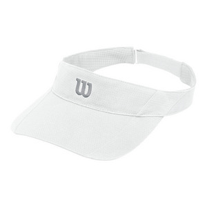 Women`s Rush Knit Tennis Visor White