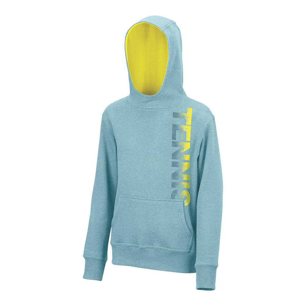 Girls ` Pullover Tennis Hoody Aqua Heather