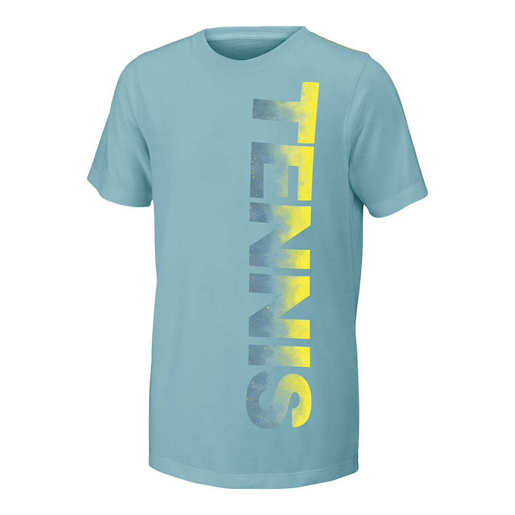 Girls ` Tennis Tech Tee Aqua