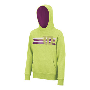 Boys` Stripe W Pullover Tennis Hoody Green Glow