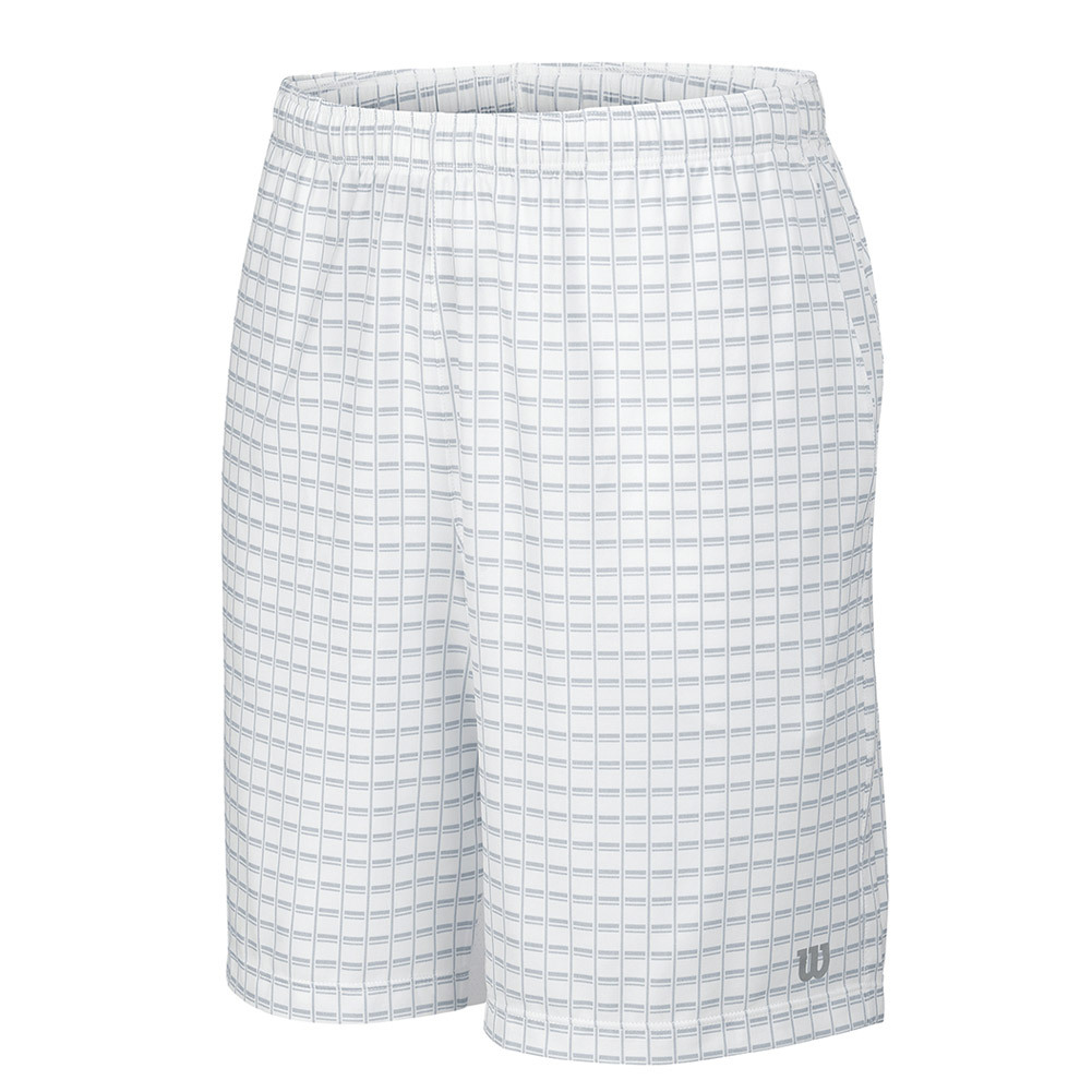 Boys'spring Outline 7 Inch Tennis Short White And Pearl Gray
