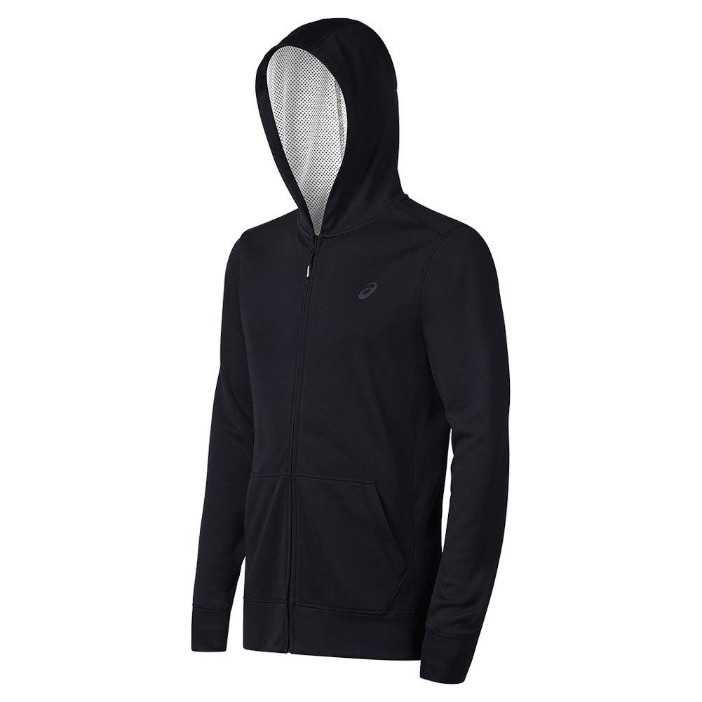 asics zip hoodie kids Black