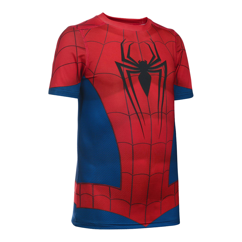 Boys ` Alter Ego Spider- Man Tee Red And Midnight Navy